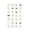 Set of outline emoticon vector image vector image