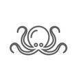 simple octopus line icon symbol and sign vector image vector image