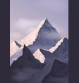 spectacular landscape with mountain crests or vector image