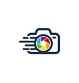 speed camera logo icon design vector image