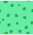 Square green seamless pattern vector image vector image