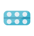 Tablet pills icons vector image vector image