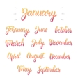 Trendy hand lettering set of months of the year vector image vector image