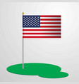 united states of america flag pole vector image