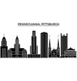 usa pennsylvania pittsburgh architecture vector image vector image