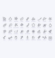very large set black and white spice icons vector image