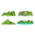 vietnam landmarks or landscape mountains icon set vector image