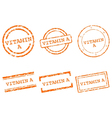 Vitamin A stamps vector image vector image
