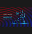 volleyball player plays volleyball sport vector image vector image