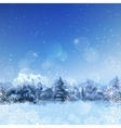 Watercolor Snowy Forest vector image vector image