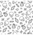 wiccan seamless pattern with magic symbols vector image vector image