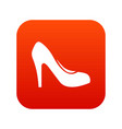 women shoe with heels icon digital red vector image vector image