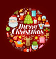 xmas concept merry christmas greeting card or vector image vector image