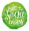 yoga Green vector image vector image