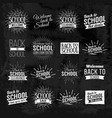 back to school chalkboard lettering vector image