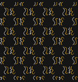 1960s style wavy squiggles seamless pattern vector image