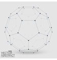 Abstract mesh sphere constructed with vector image vector image