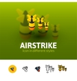 Airstrike icon in different style vector image vector image