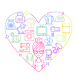 Appliances love heart woman color vector image