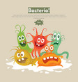 bacteria flat cartoon web banner vector image