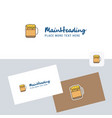 beer logotype with business card template elegant vector image