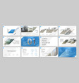 blue presentation templates elements on a white vector image vector image