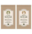 cane and beet sugar labels vector image