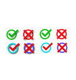 check marks set vector image