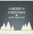christmas and new year snowbound greeting card vector image vector image