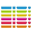 collection of blank colorful buttons vector image vector image