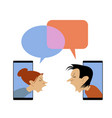 conflict cartoon vector image