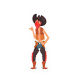 cowboy western cartoon character vector image