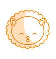 cute shadow lion face cartoon vector image vector image