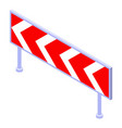 danger curve icon isometric style vector image vector image
