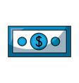 dollar money isolated icon vector image