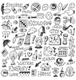 ecology doodles vector image vector image