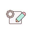 edit icon design vector image vector image