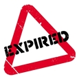 Expired stamp rubber grunge vector image vector image