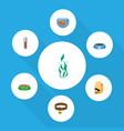 flat icon pets set of nutrition box fishbowl vector image vector image