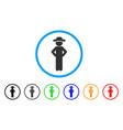 gentleman akimbo rounded icon vector image vector image