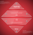 Glass rhombus template divided to four parts on vector image vector image