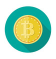 golden coin with bitcoin sign money and finance vector image vector image