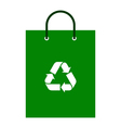 Green bag with recycle symbol vector image vector image