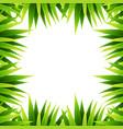 green leaf nature border vector image vector image