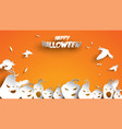 halloween background with pumpkin and crow bird vector image vector image