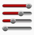 horizontal progress bars user interface elements vector image vector image
