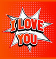 i love you red text in capitals on red background vector image vector image