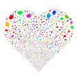 index finger fireworks heart vector image vector image