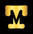 initial tm letter logo design vector image