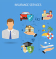 insurance services banner vector image